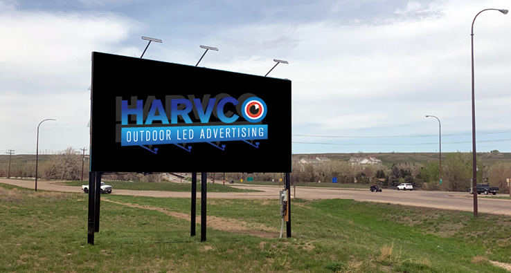 Harvco billboard Hwy 1 West Exiting Medicine Hat
